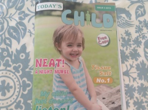 Today's Child magazine  Oct 2013 featuring my services